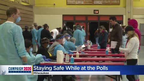 Precautions taken to keep voters & poll workers safe during Wisconsin...